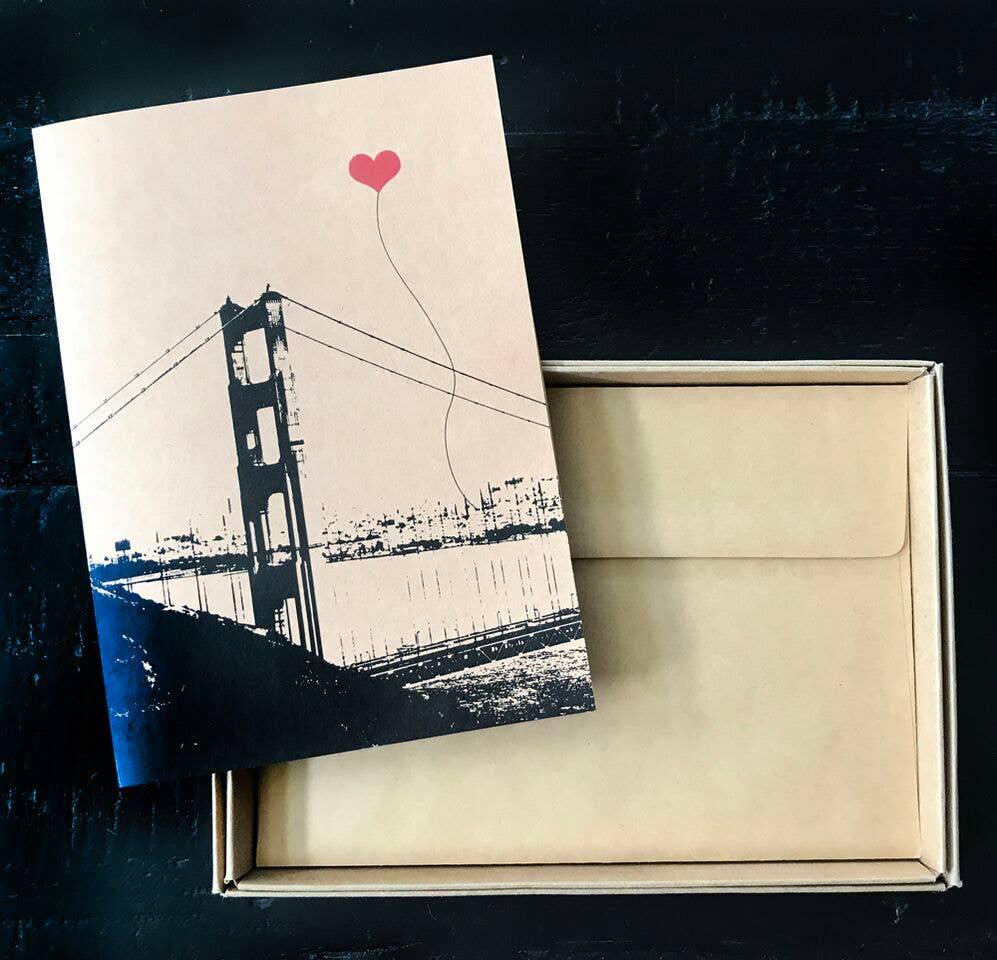 San Francisco Vertical Golden Gate Single Card | Trada Marketplace