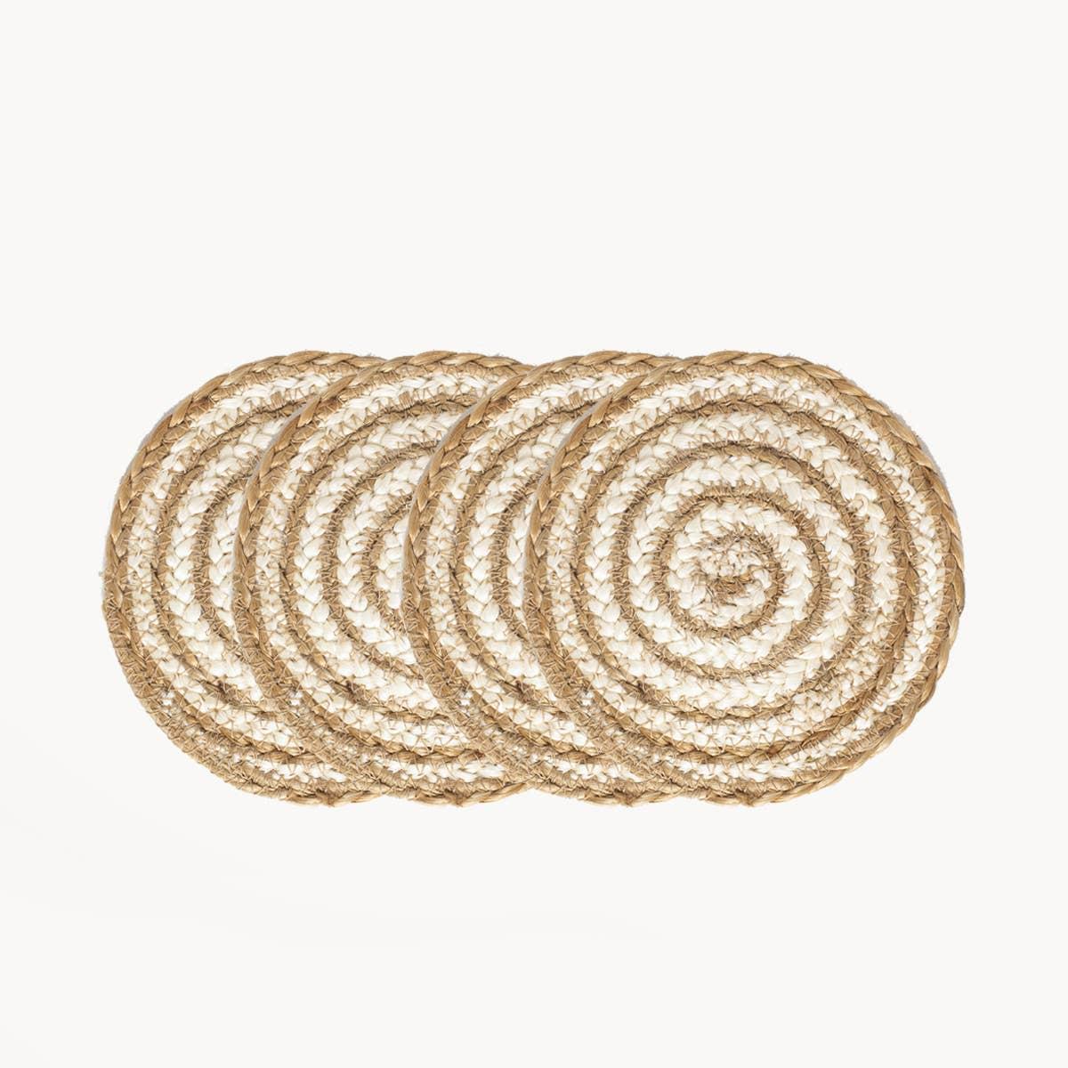 Kata Spiral Coaster - Natural (Set of 4) | Trada Marketplace