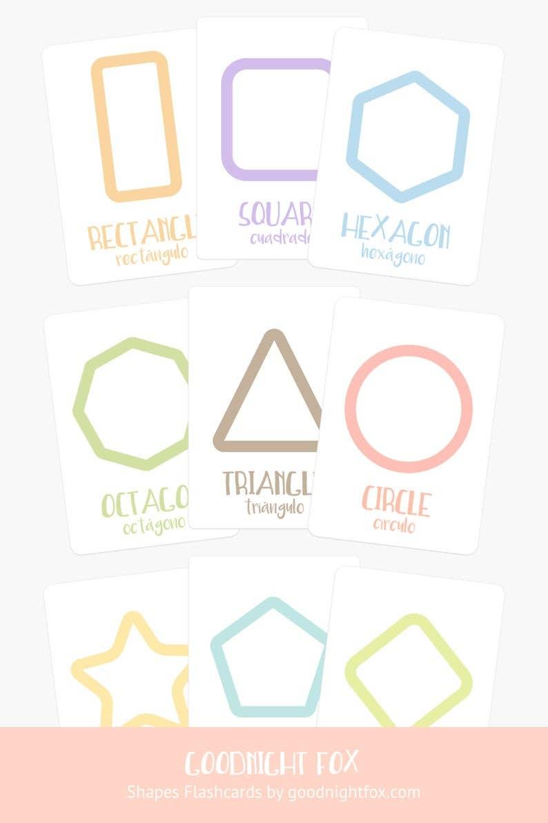 Shapes Flashcards   Trada Marketplace