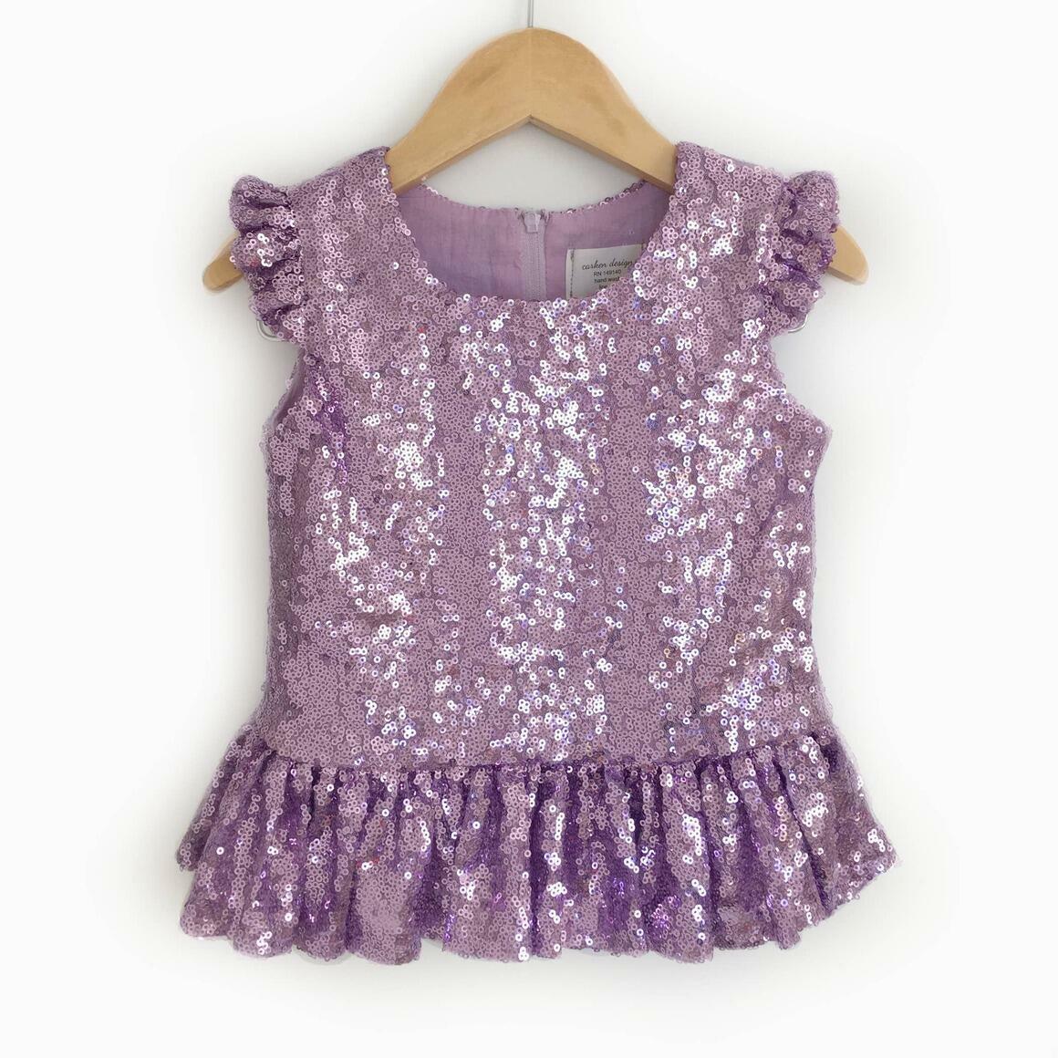 Lavender Sequin Peplum Top | Trada Marketplace