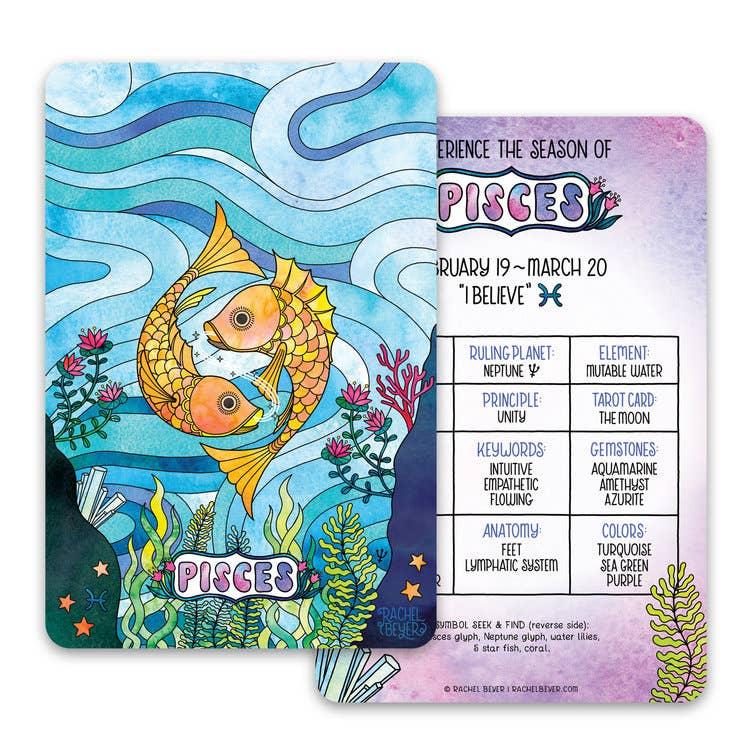 Pisces Zodiac Mini Art Print | Trada Marketplace