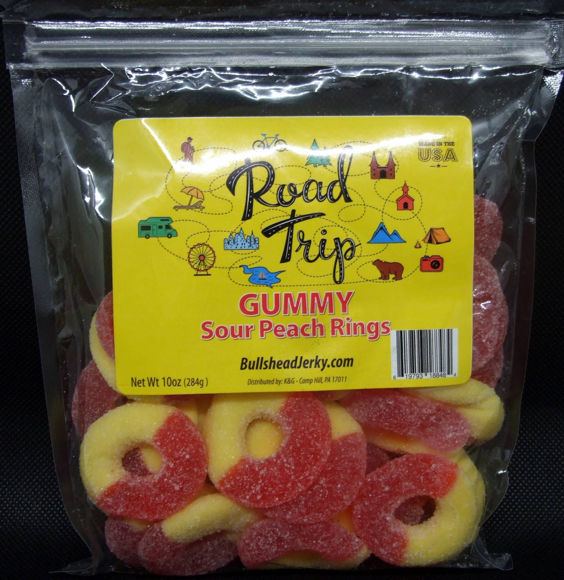 Gummy Sour Peach Rings 10 oz | Trada Marketplace