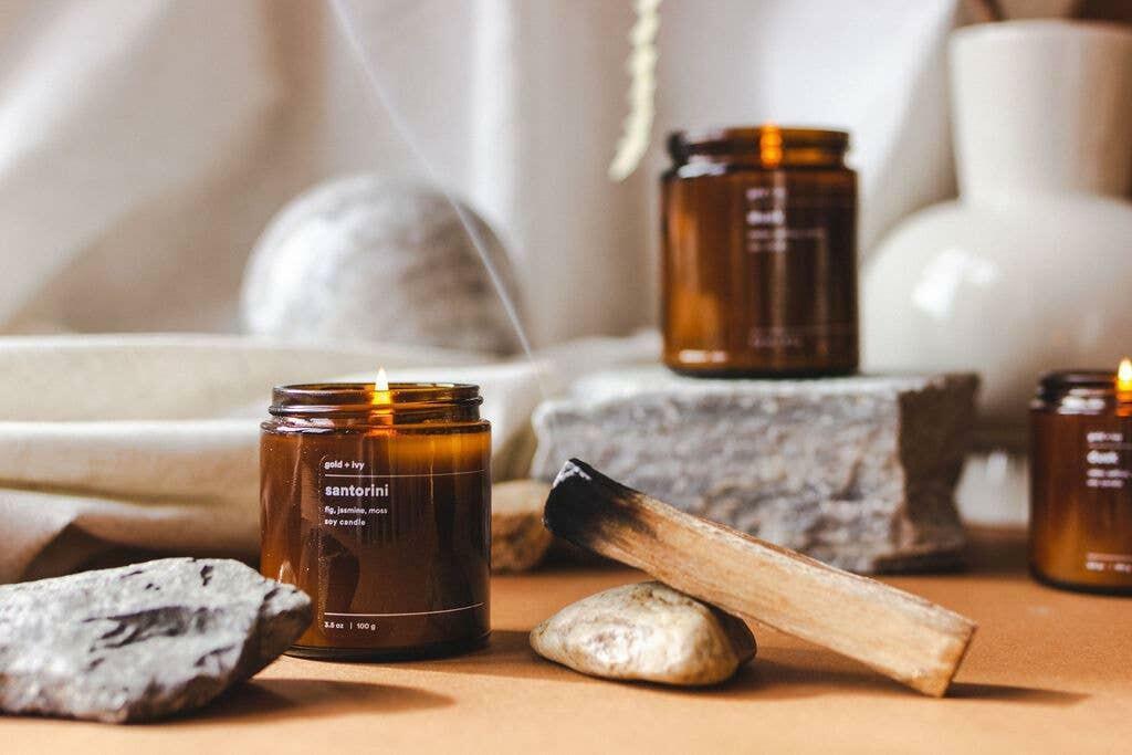 santorini 3.5 oz. soy candle - mini | Trada Marketplace