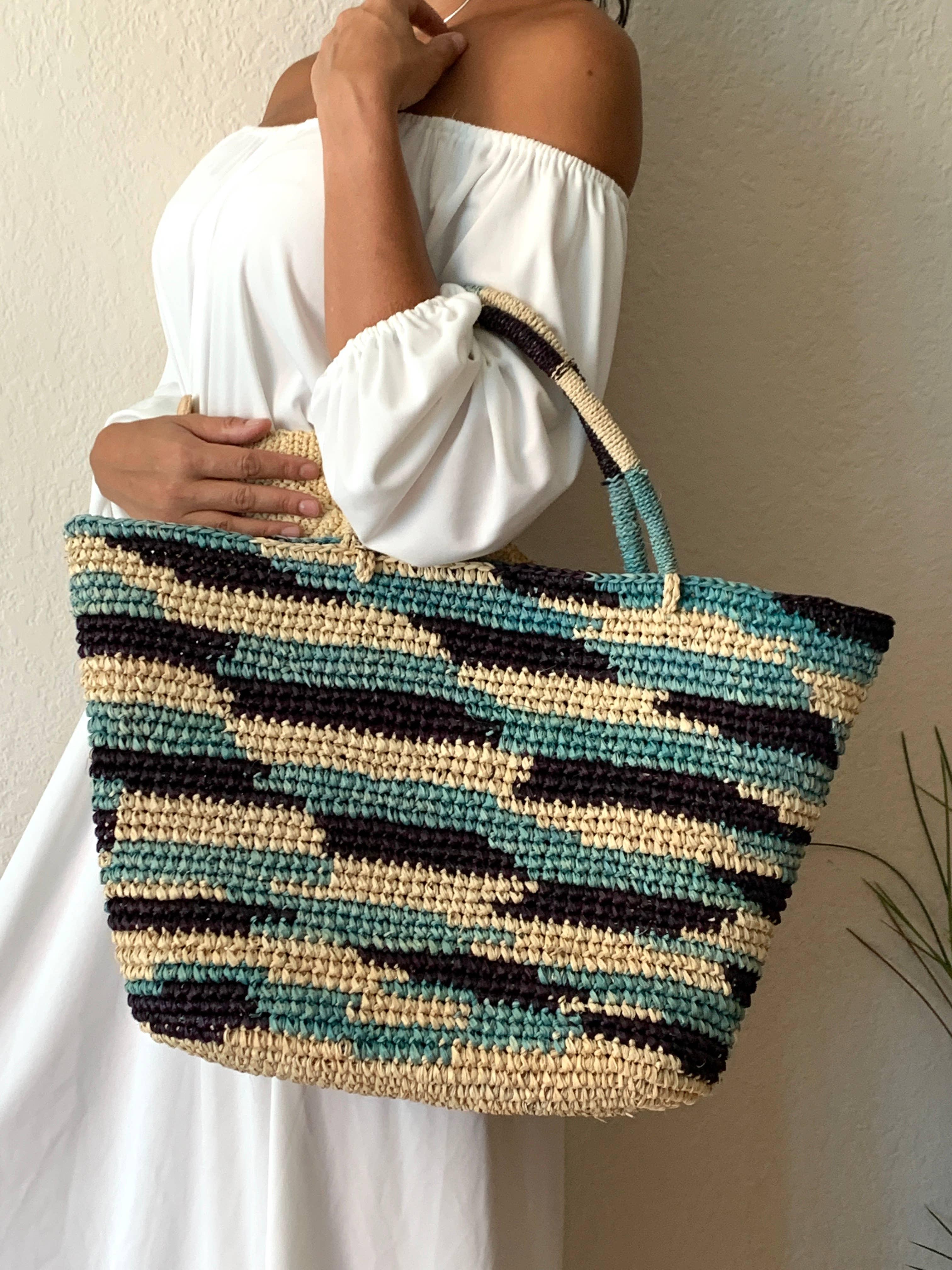 Lemloreli - Crochet Multi Color Tote | Trada Marketplace