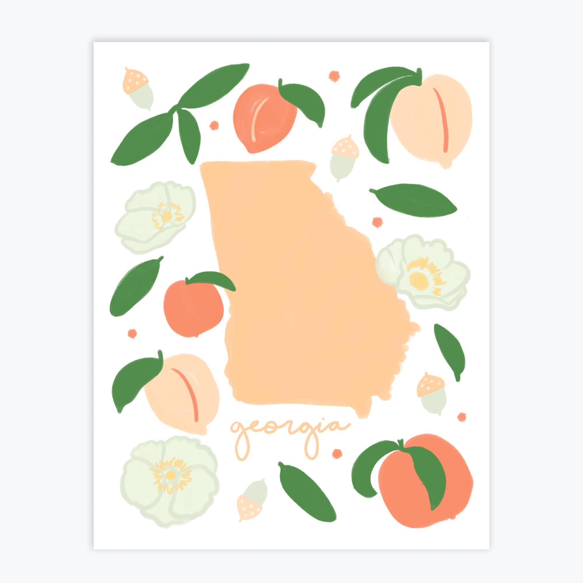 Georgia Fresh State - Art Print   Trada Marketplace