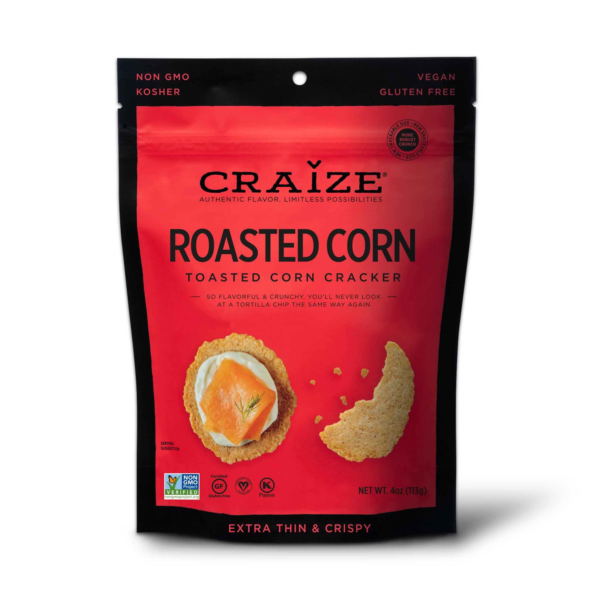 Roasted Toasted Corn Crackers 4oz | Trada Marketplace