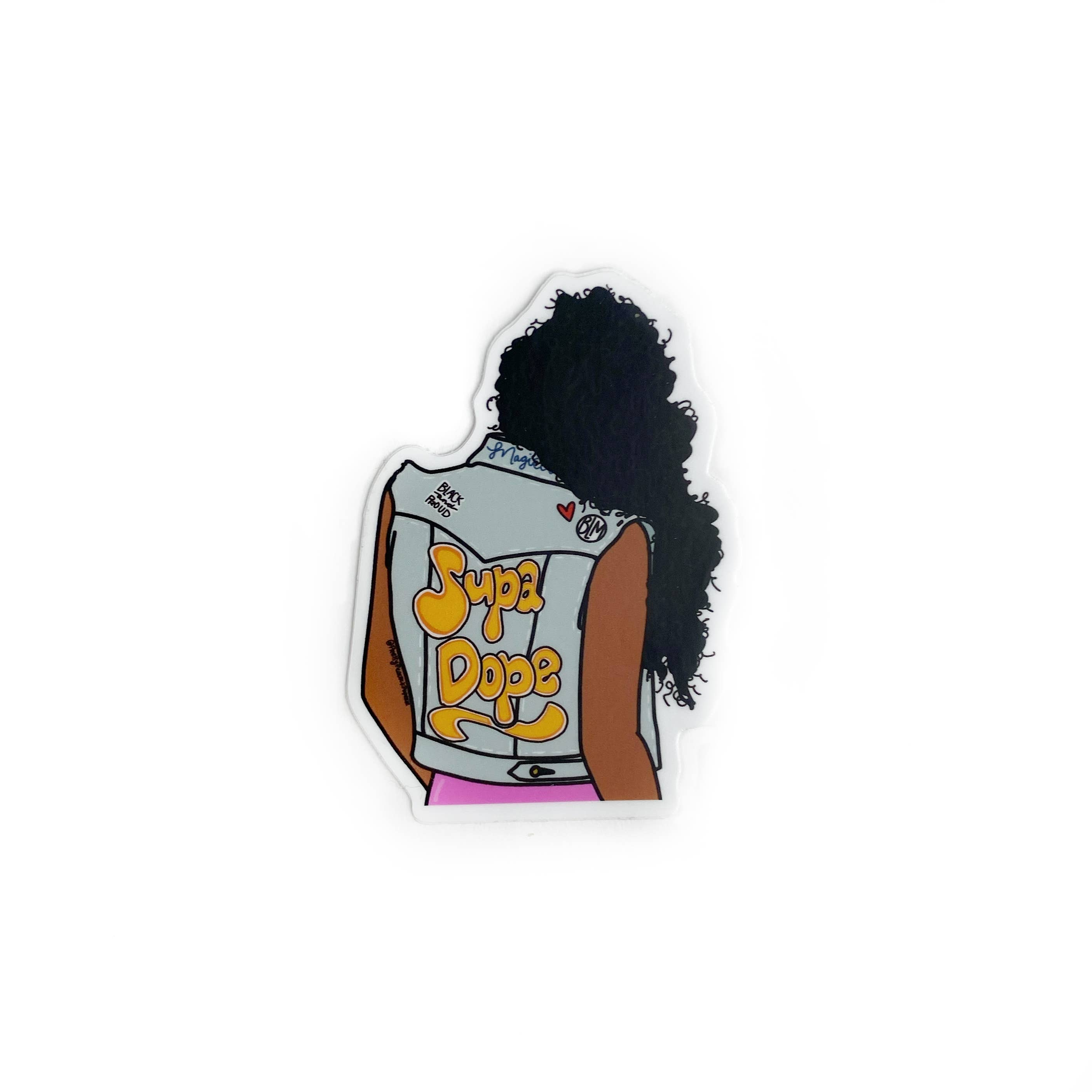 Supa Dope Sticker ( Black Girl Magic) | Trada Marketplace