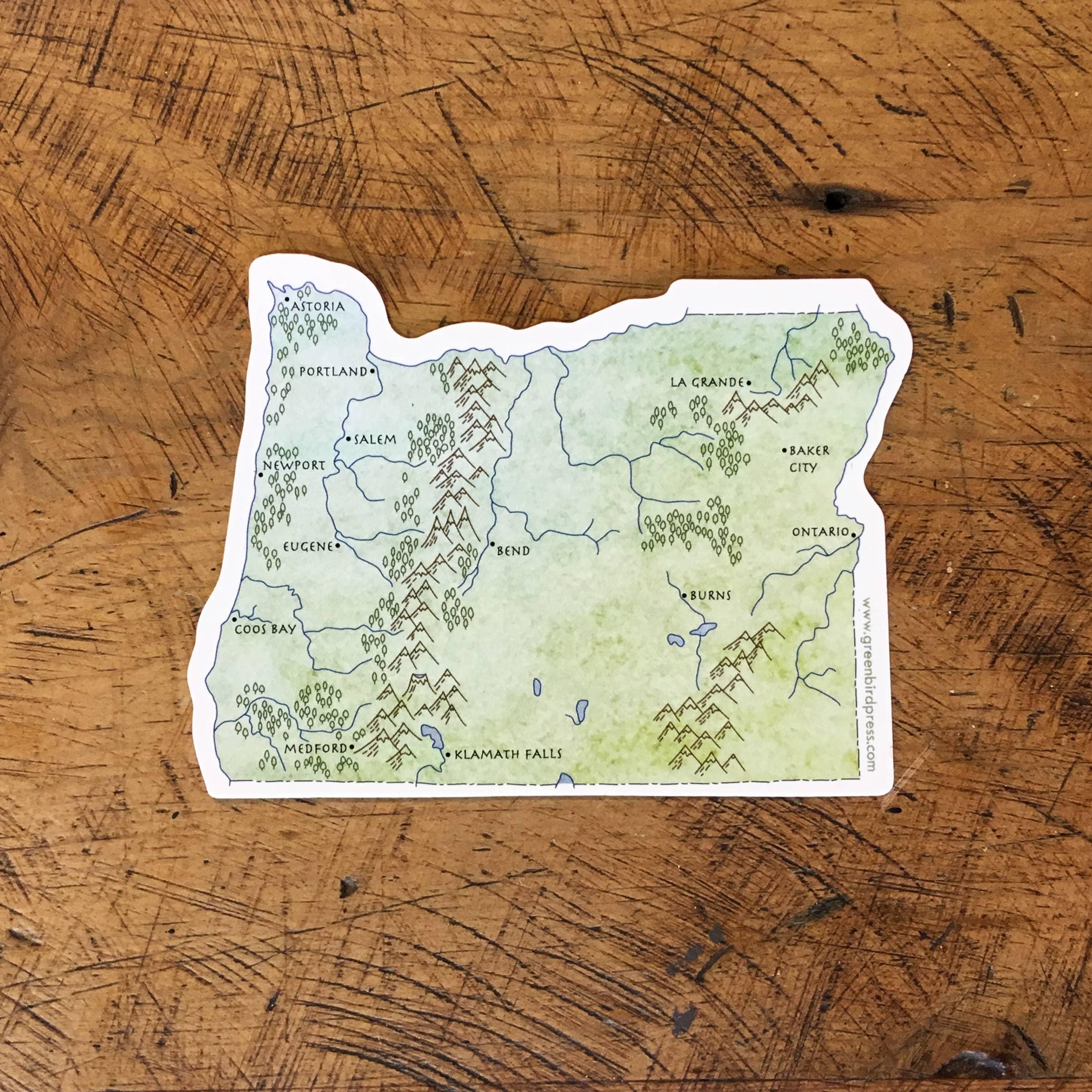 Oregon State Map Sticker | Trada Marketplace