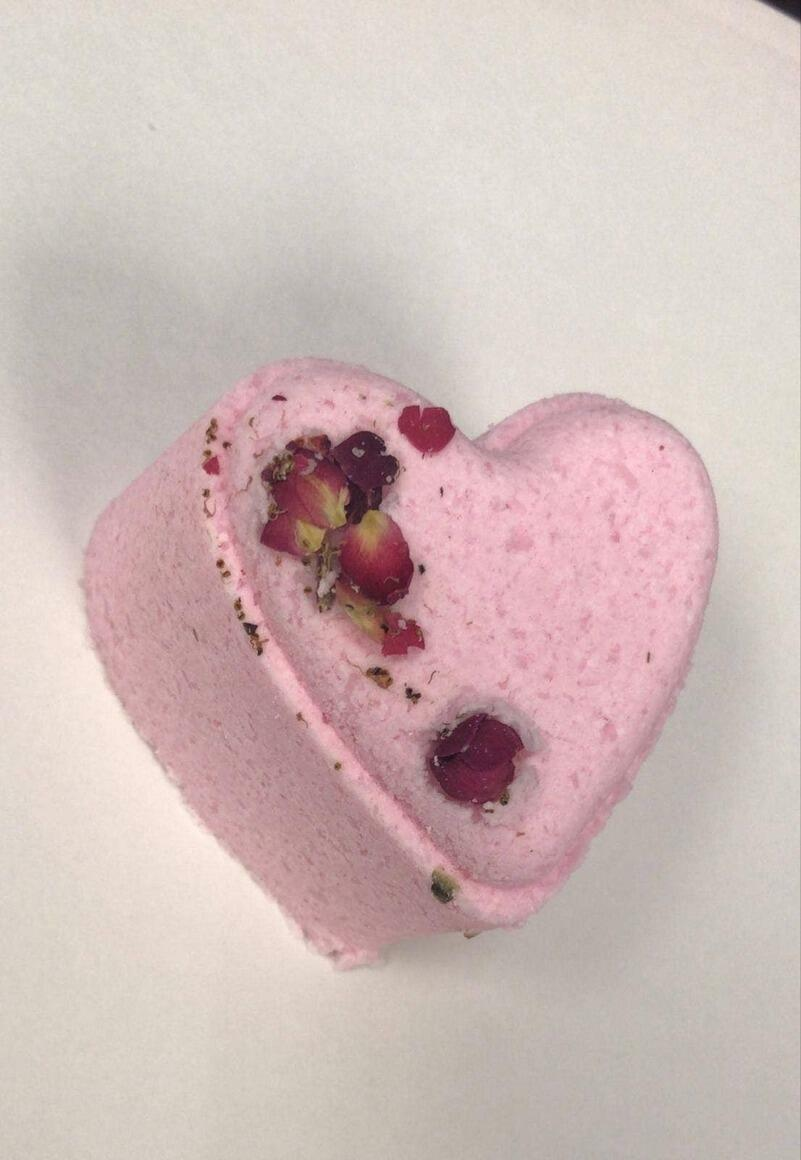 SPECIAL - Heart bath bomb- Lavender scented   Trada Marketplace