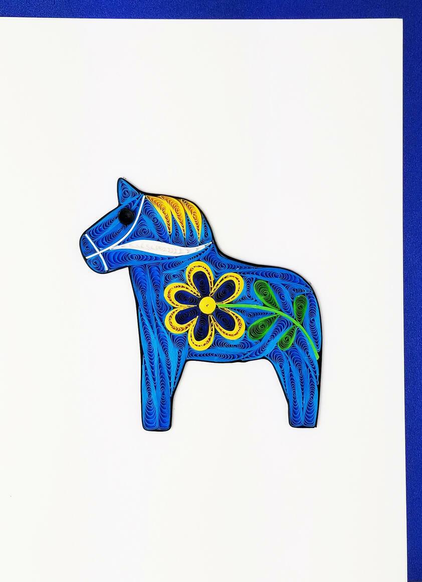 Blue Dala Horse   Trada Marketplace