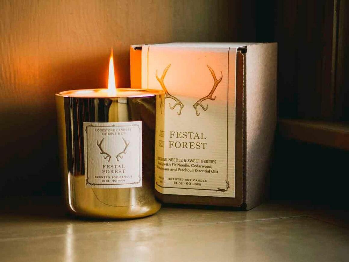 Festal Forest I Soy Candle, 13 oz, 90 hour   Trada Marketplace