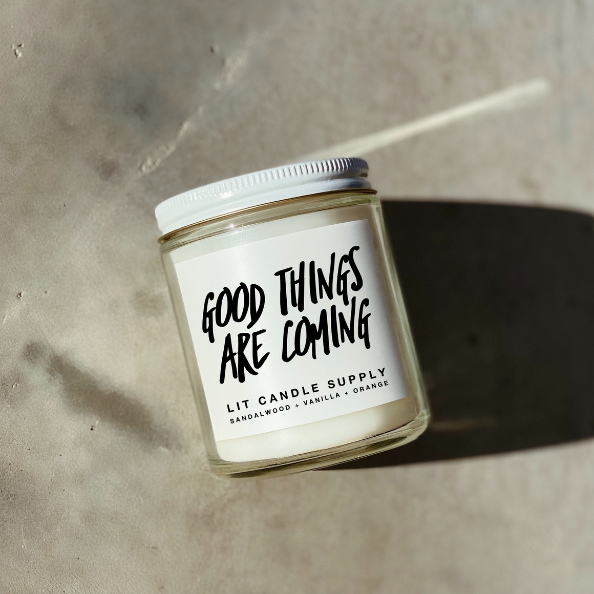 Good Things Are Coming Soy Candle | Trada Marketplace