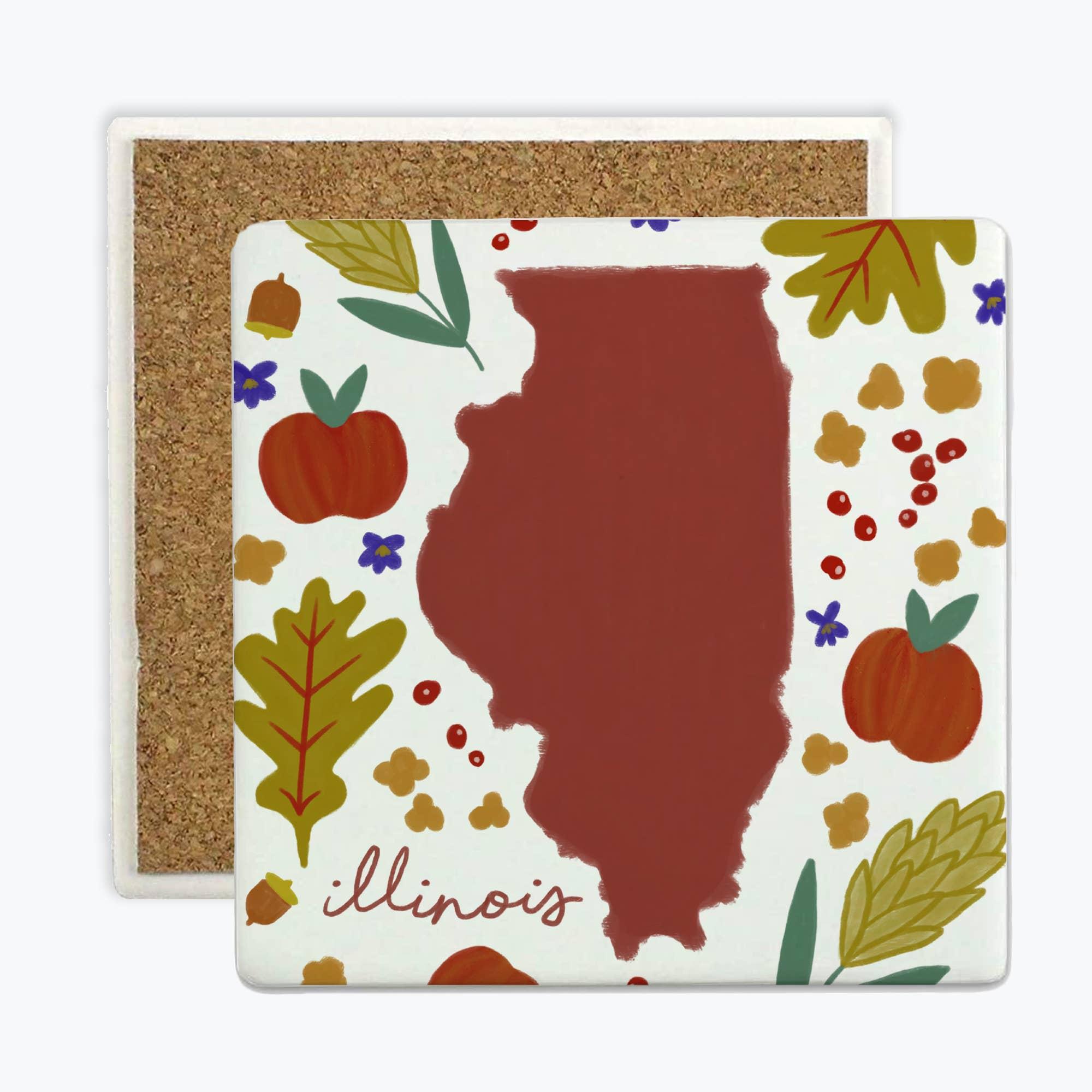 Illinois Fresh State - Coasters   Trada Marketplace