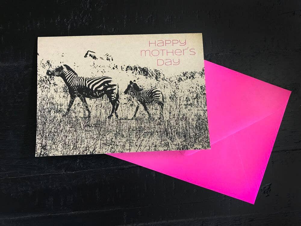 Happy Mother's Day Zebras Single Card | Trada Marketplace