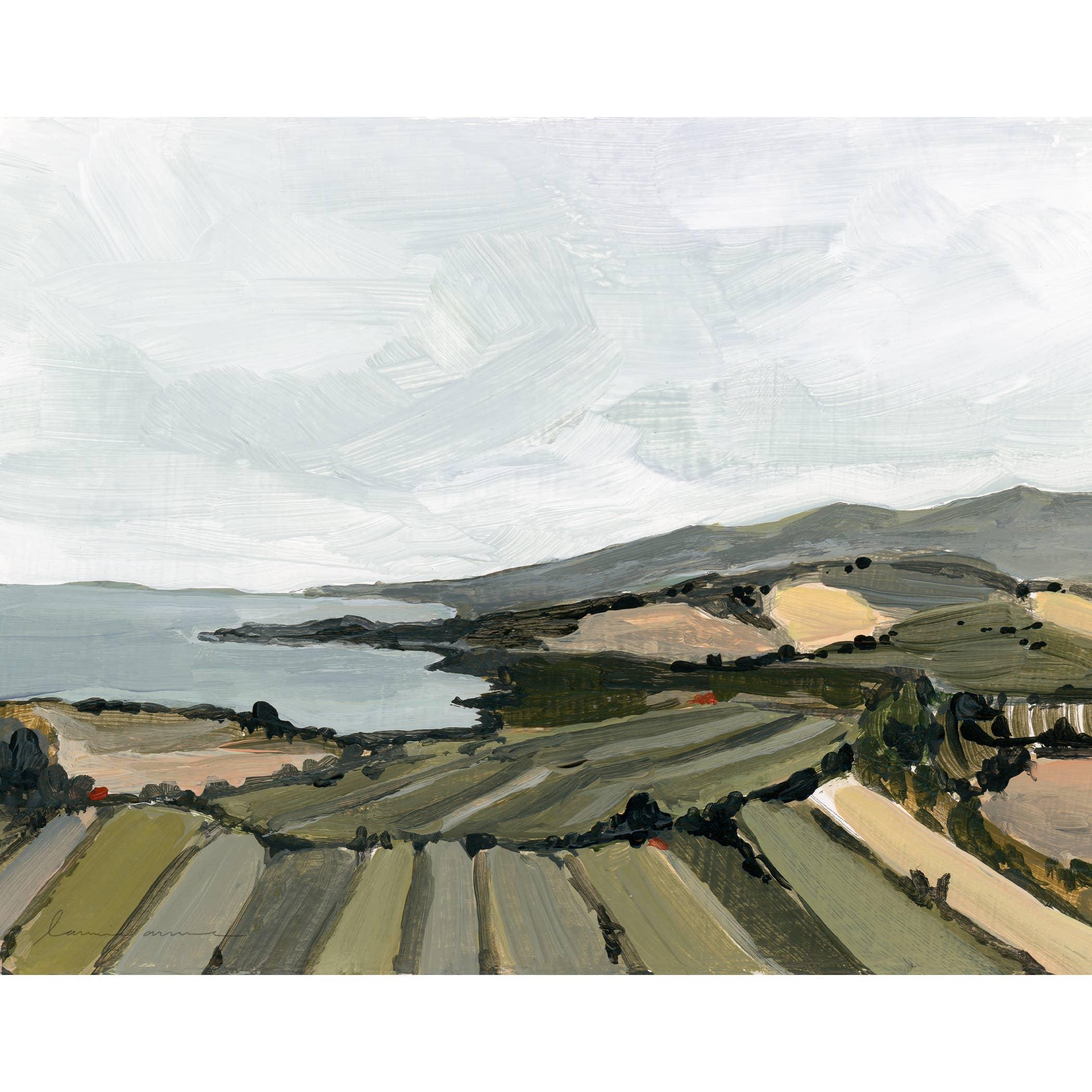 French Coast Horizontal Canvas Print   Trada Marketplace