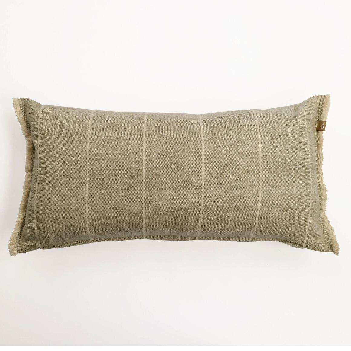 Brushed Wild Stripe Green Breakfast Pillow | Trada Marketplace