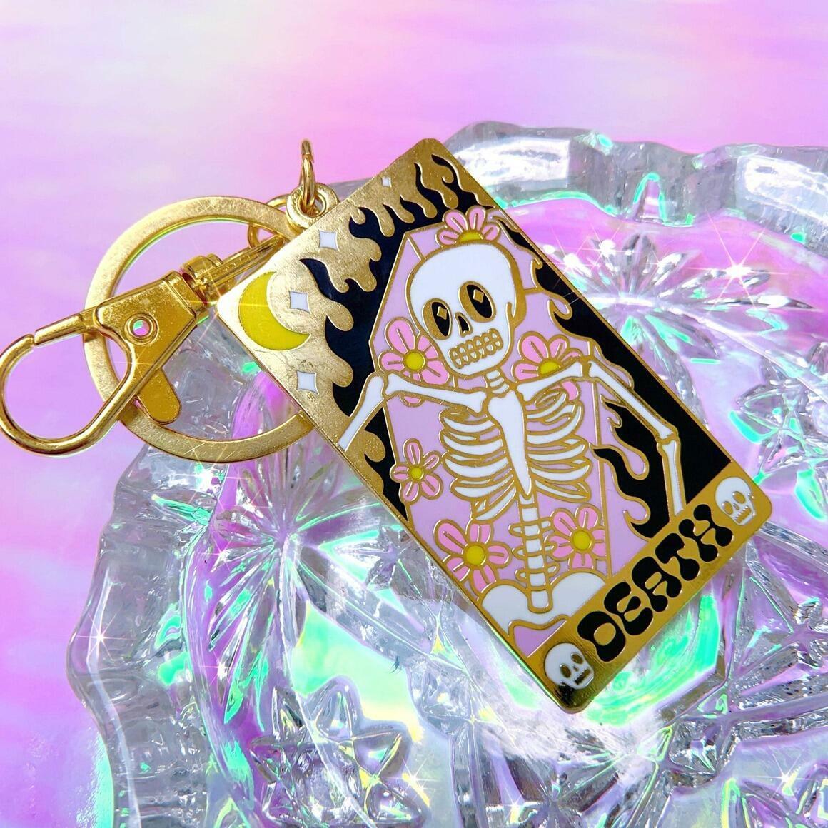 Death tarot card keychain   Trada Marketplace