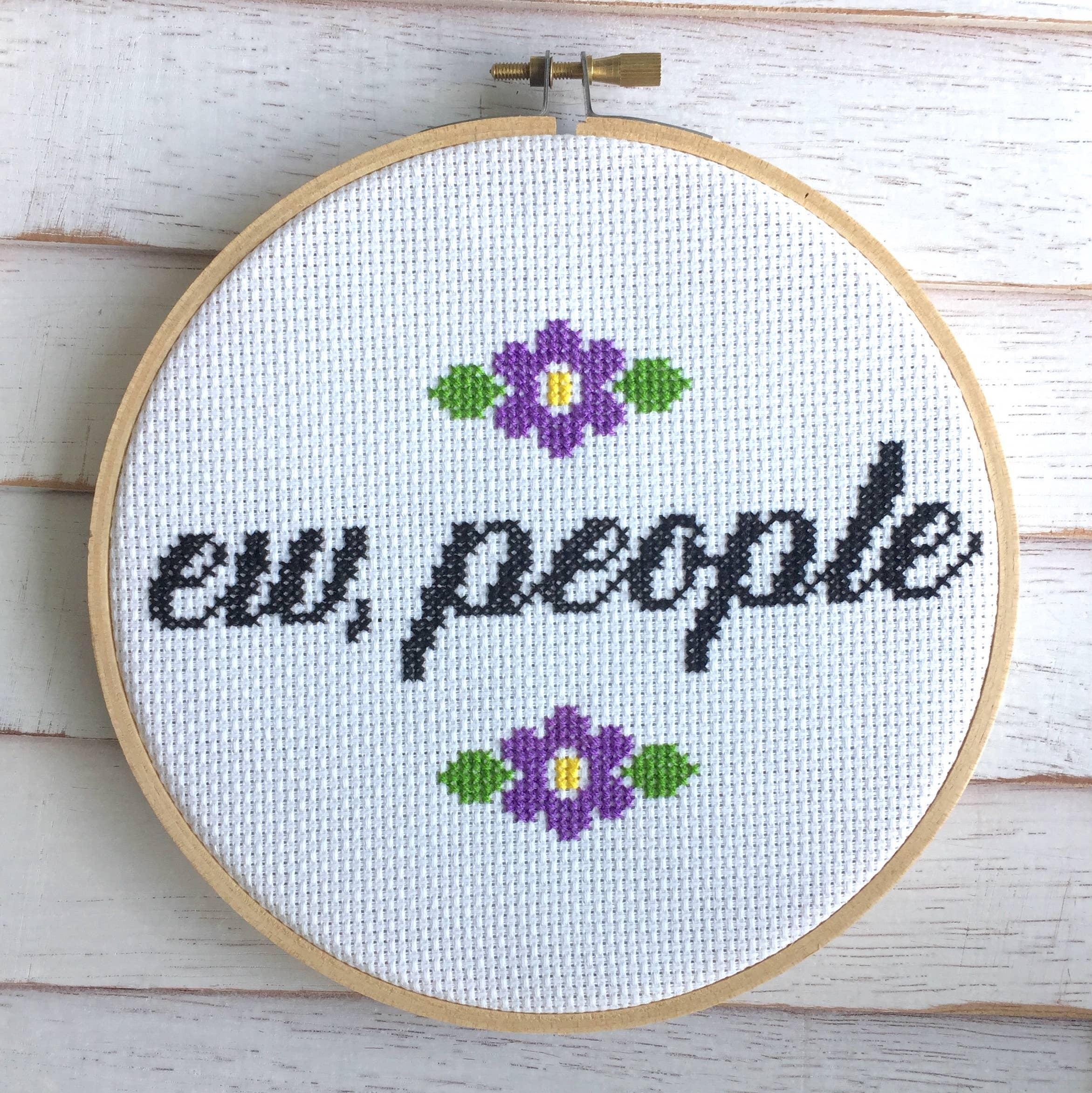 Ew, People Cross Stitch Kit   Trada Marketplace