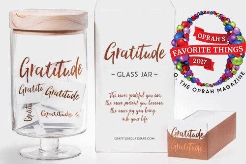 Gratitude Glass Jar | Trada Marketplace