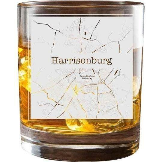 Harrisonburg College Town Glasses (Set of 2)   Trada Marketplace