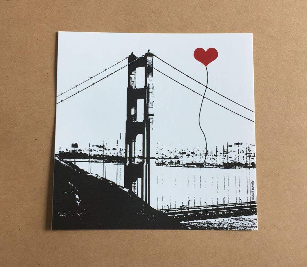 San Francisco Golden Gate Bridge Sticker | Trada Marketplace