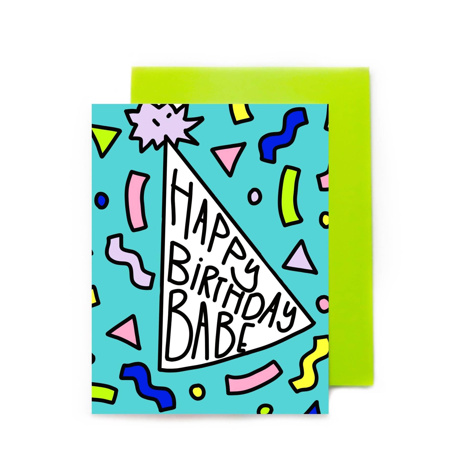 Happy Birthday Babe Colorful Birthday Hat | Trada Marketplace