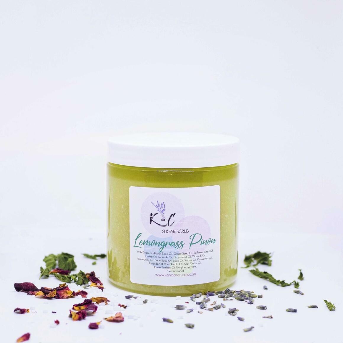 Lemongrass Pinon Sugar Scrub | Trada Marketplace