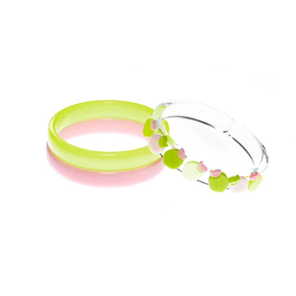 Multi Lemon Pink Green Bangles (set of  3) - Fruit Stand   Trada Marketplace