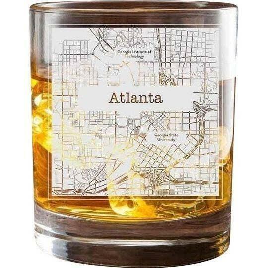 Atlanta College Town Glasses (Set of 2)   Trada Marketplace