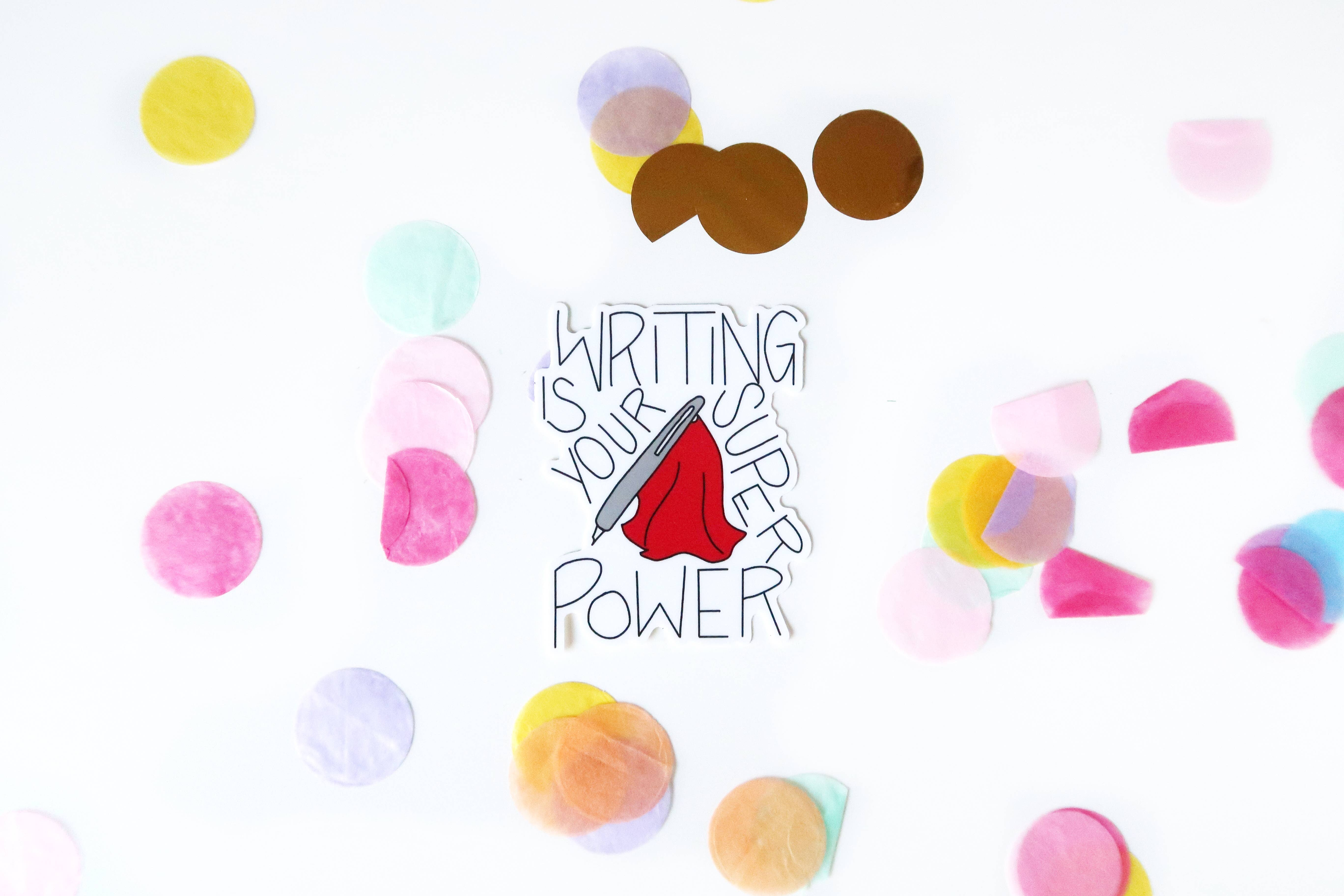 Writing Is Your Superpower Sticker   Trada Marketplace