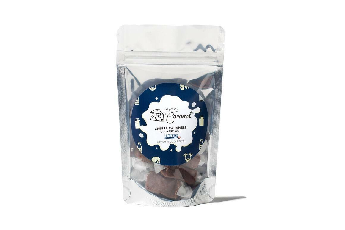 Gruyère AOP Caramel White Zip Bag | Trada Marketplace