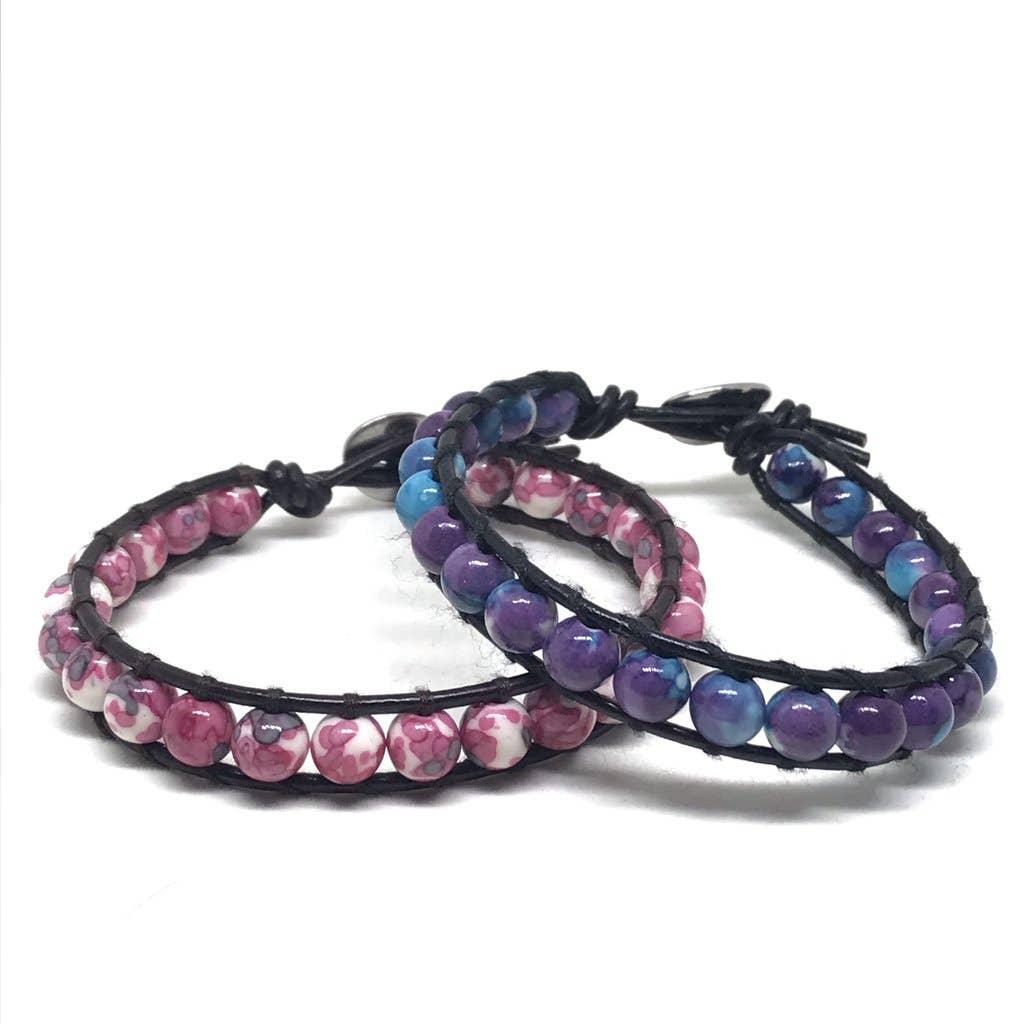 Berry Tie Dye Bracelet | Trada Marketplace