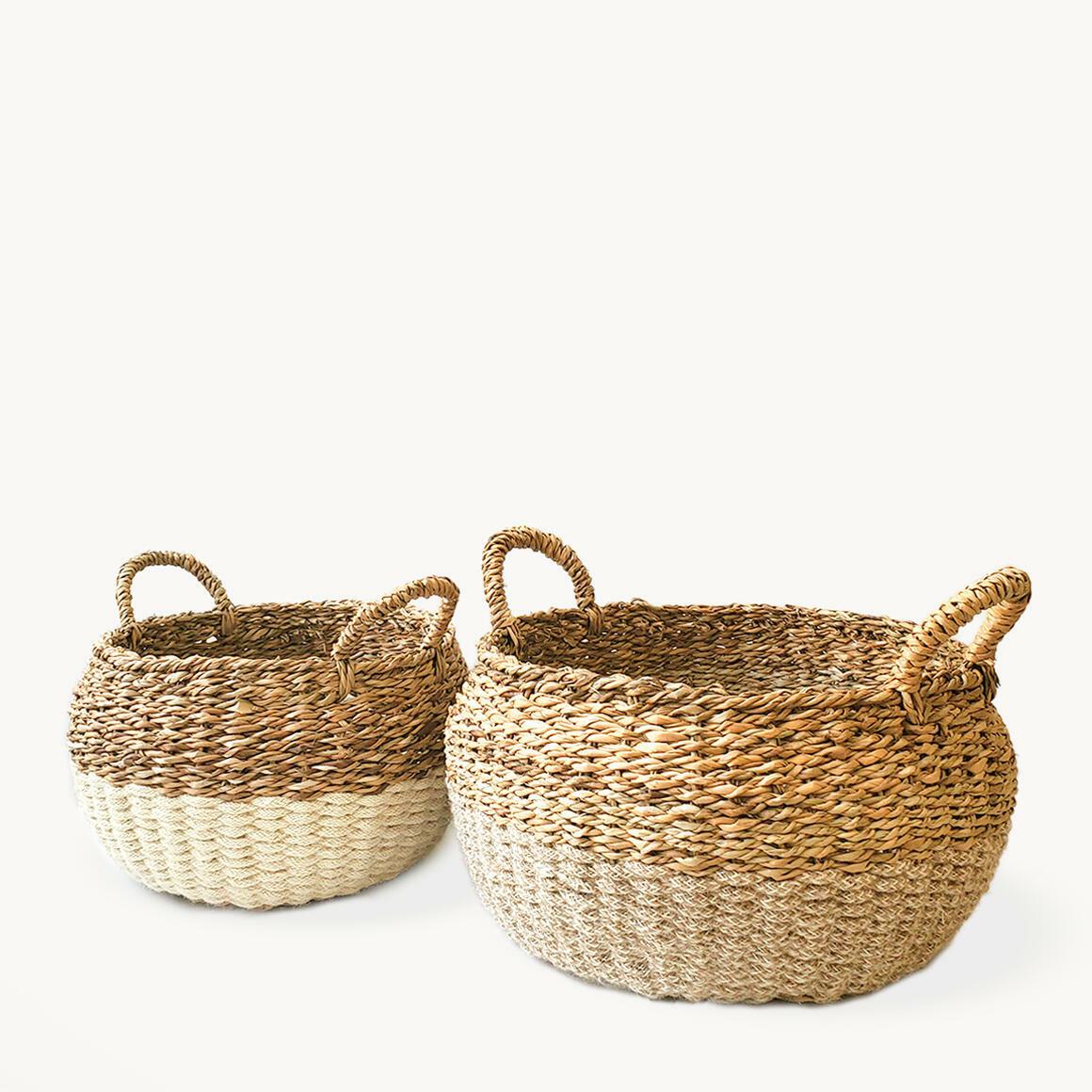 Ula Floor Basket - Natural (Set of 2) | Trada Marketplace