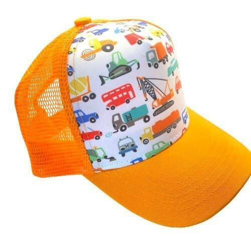 Orange Truck Print Trucker Hat | Trada Marketplace
