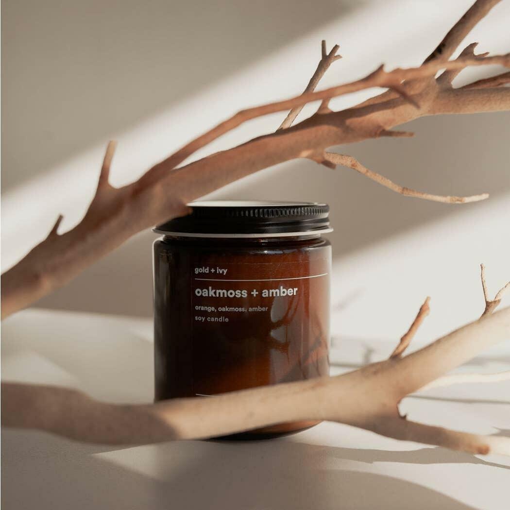 oakmoss + amber soy candle - standard | Trada Marketplace
