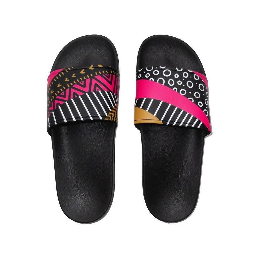 Fun Mismatched Slide Sandals | Trada Marketplace
