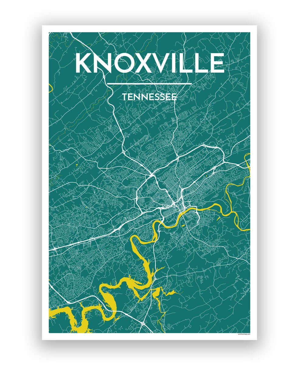 Knoxville City Map | Trada Marketplace