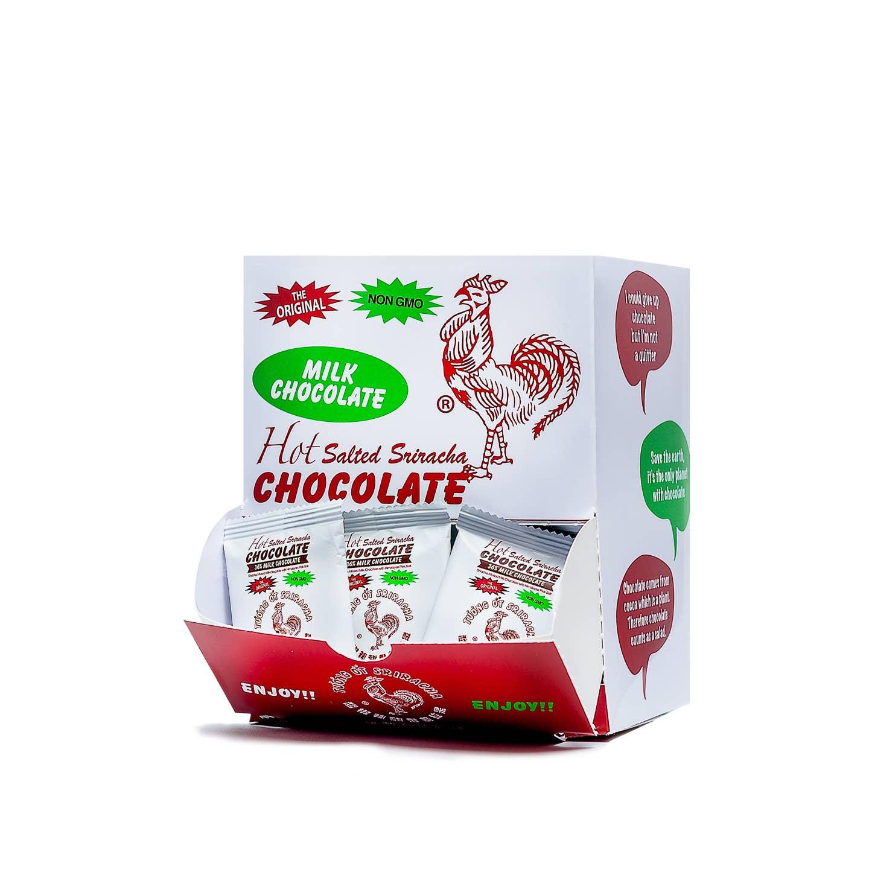 0.5 oz Sriracha Milk Chocolate Mini Chocolate Bar   Trada Marketplace