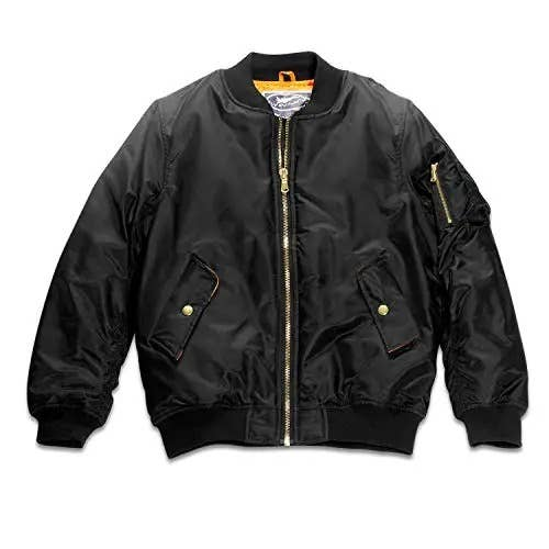 Adult MA-1 Flight Jacket Black Blank (with no patches)   Trada Marketplace