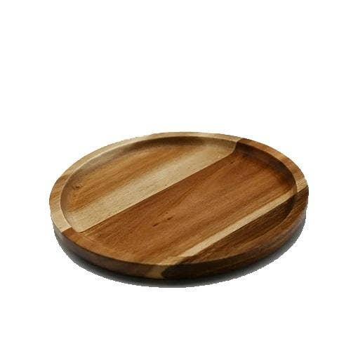 "8"" Diameter Acacia Round Plate / Platter   Trada Marketplace"