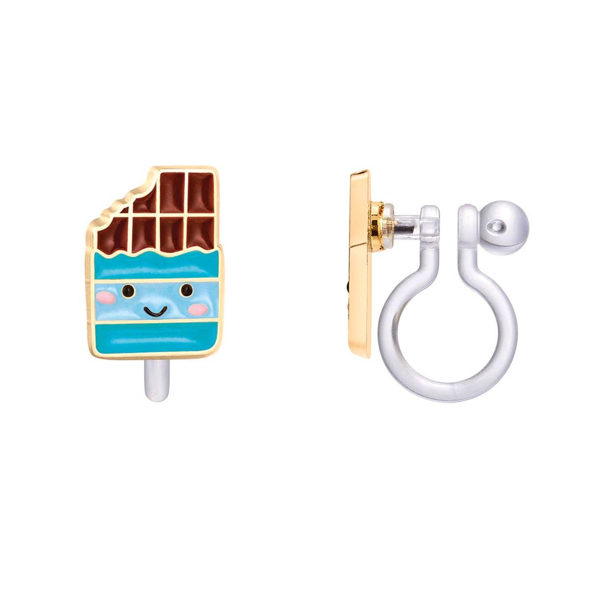CLIP ON Cutie Earrings- Cheery Chocolate | Trada Marketplace