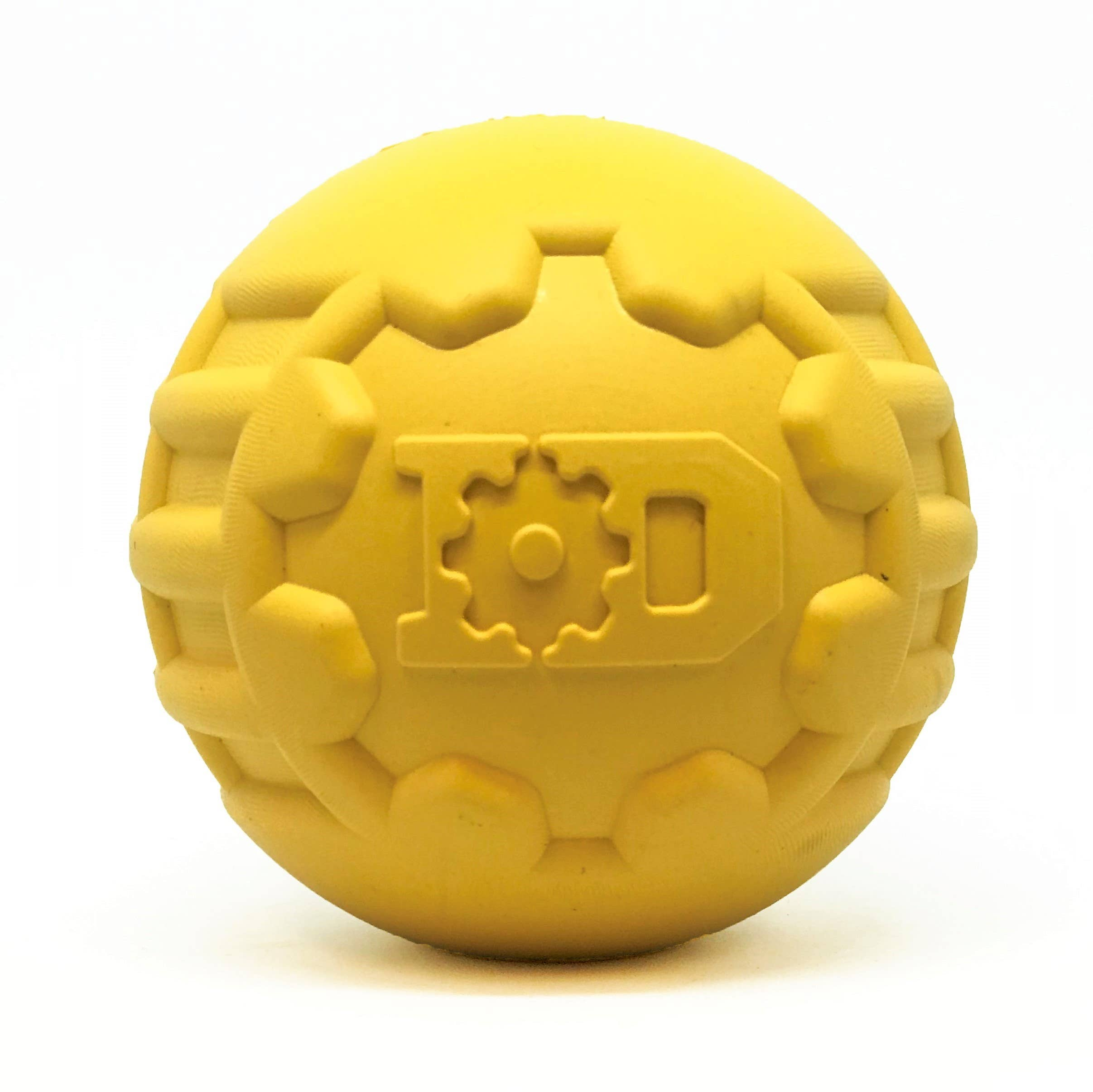 ID Ball - Chew Toy - Retrieving Toy - Large - Yellow   Trada Marketplace