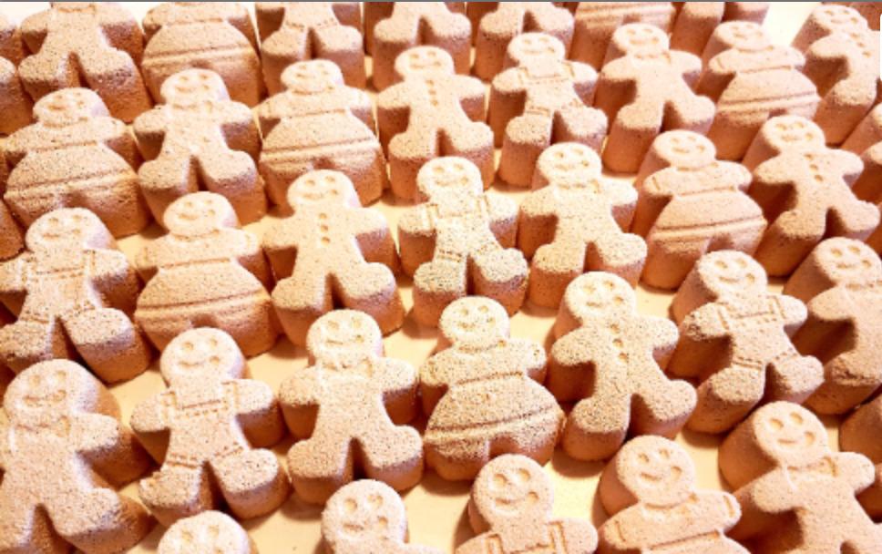 Gingerbread Man Bath Bomb Singles | Trada Marketplace