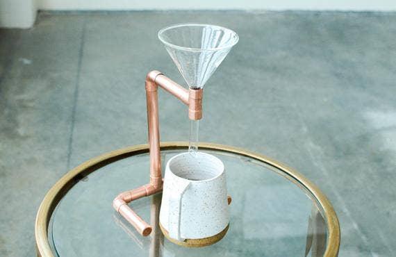 Minimal Copper Coffee Pour Over | Trada Marketplace