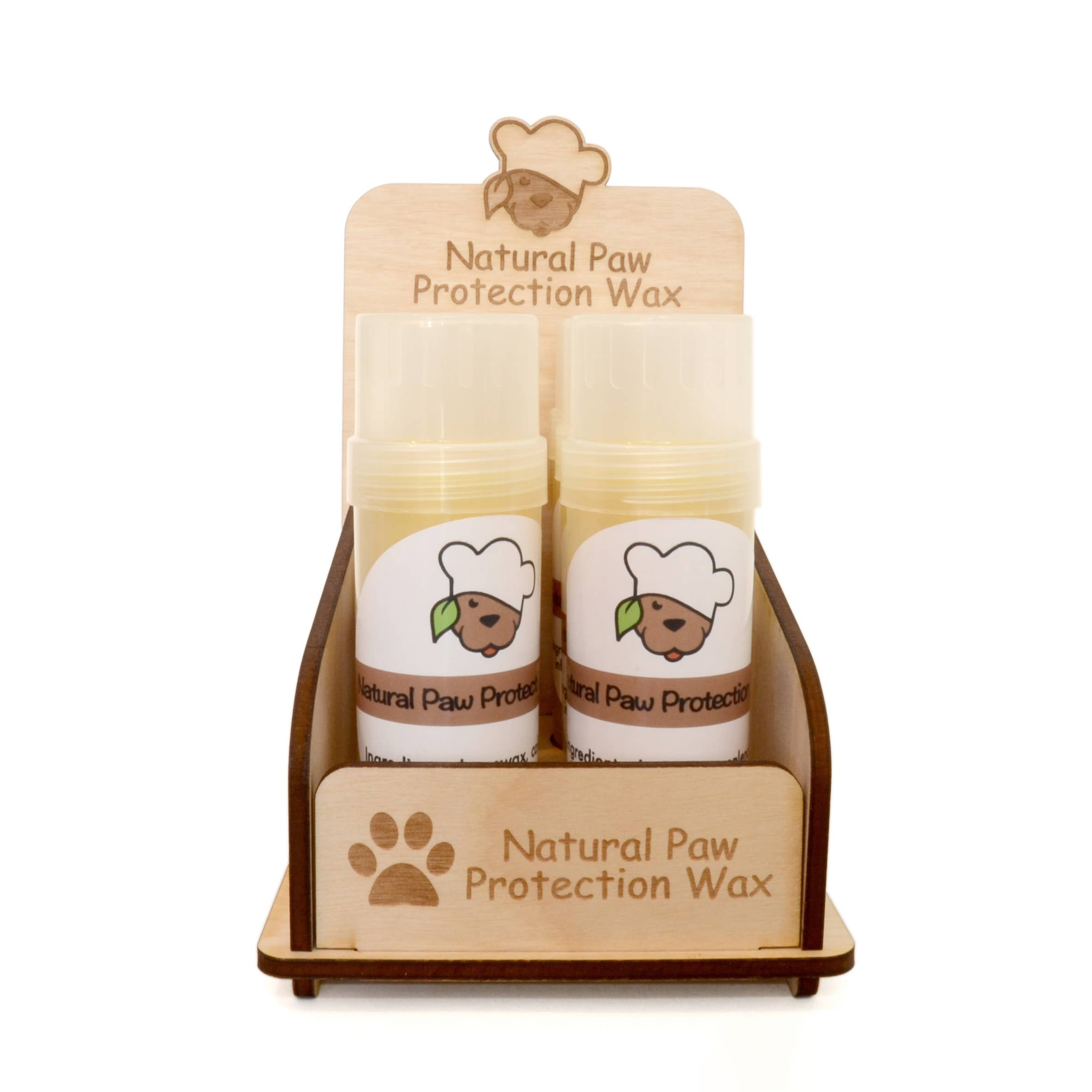 Engraved Wooden Paw Wax Tube Display | Trada Marketplace