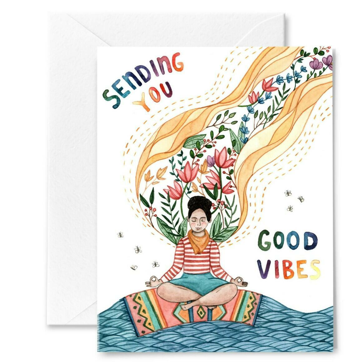 Good Vibes Greeting Card | Trada Marketplace