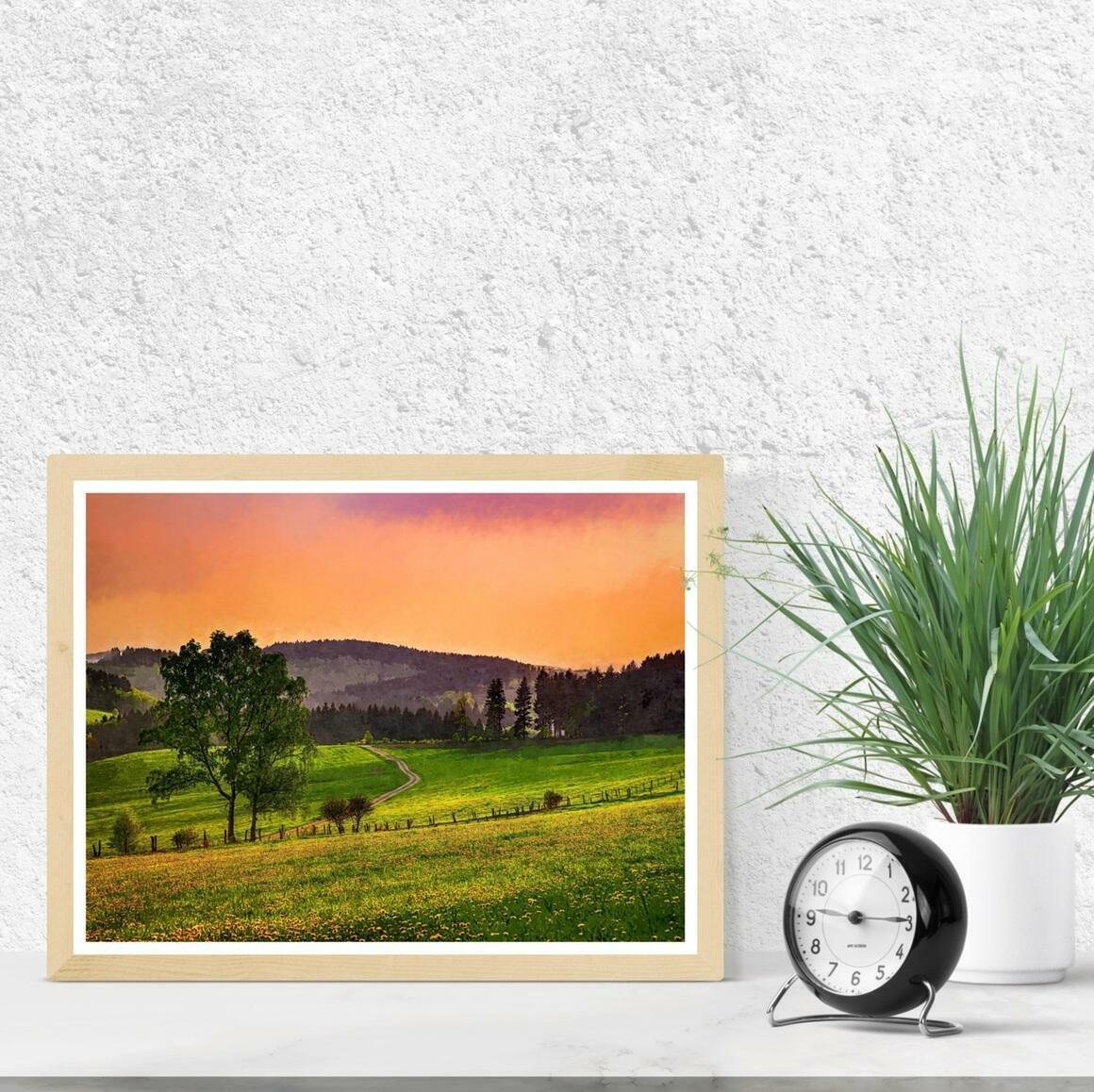 """Evening Pasture"" Fine Art Print | Trada Marketplace"