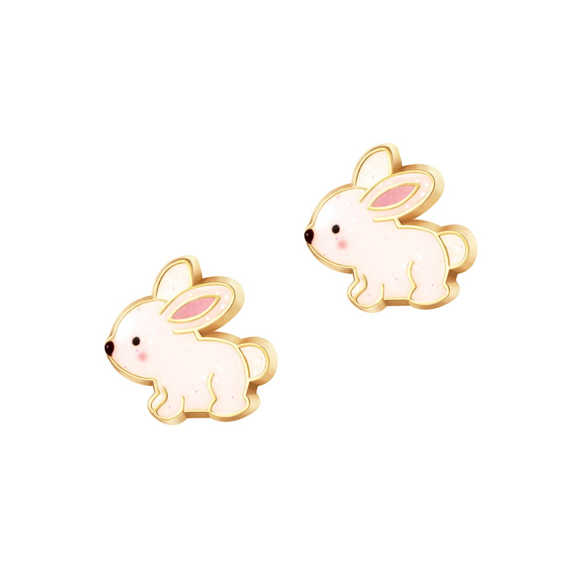 Glitter Rabbit Cutie Stud | Trada Marketplace