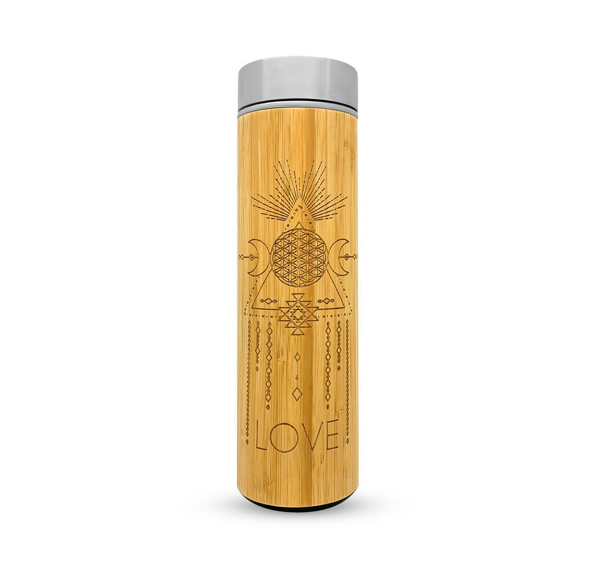 16.9oz LOVE Bamboo Water Bottle | Trada Marketplace