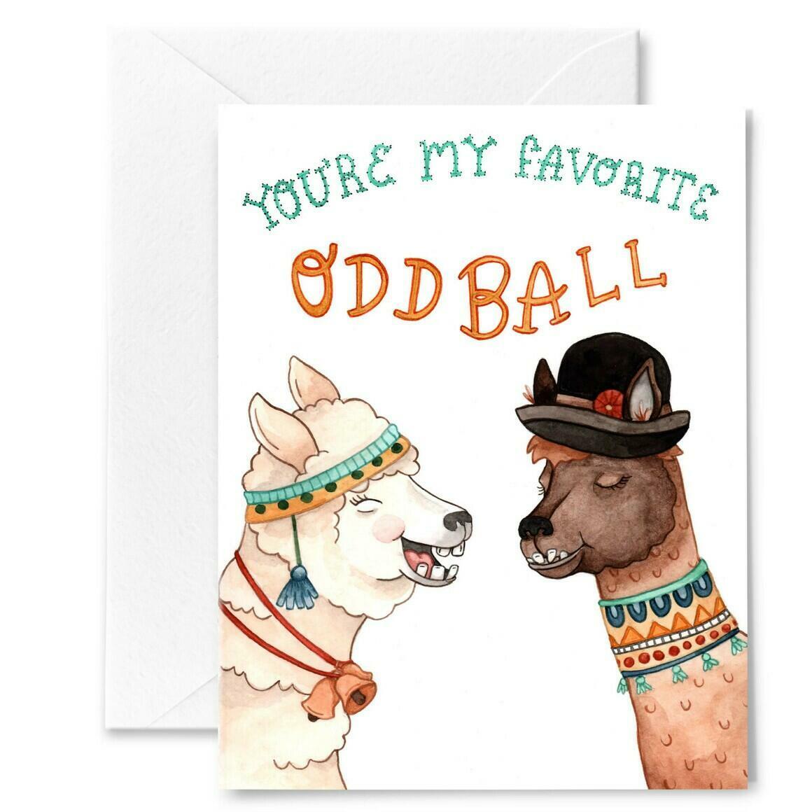 Favorite Oddball Alpaca Card | Trada Marketplace